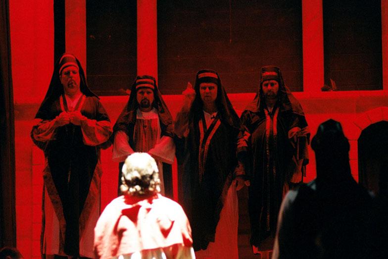 Ilustracija - Sudjenje Hristu pred Sinedrionom