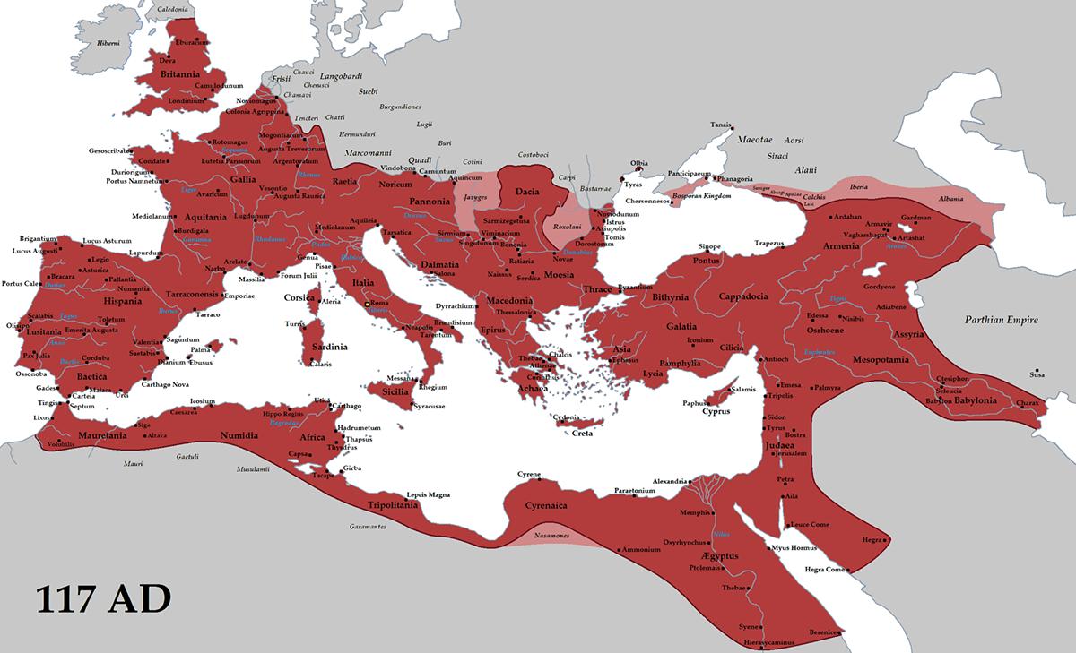 Rimska imperija 117. godine n.e.