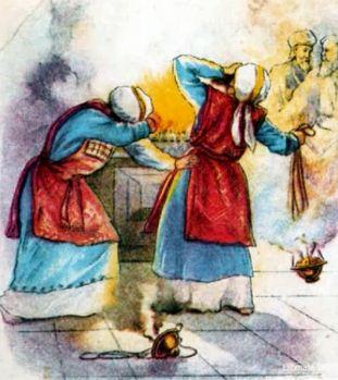 Nadav i Abihud prinose tuđi oganj