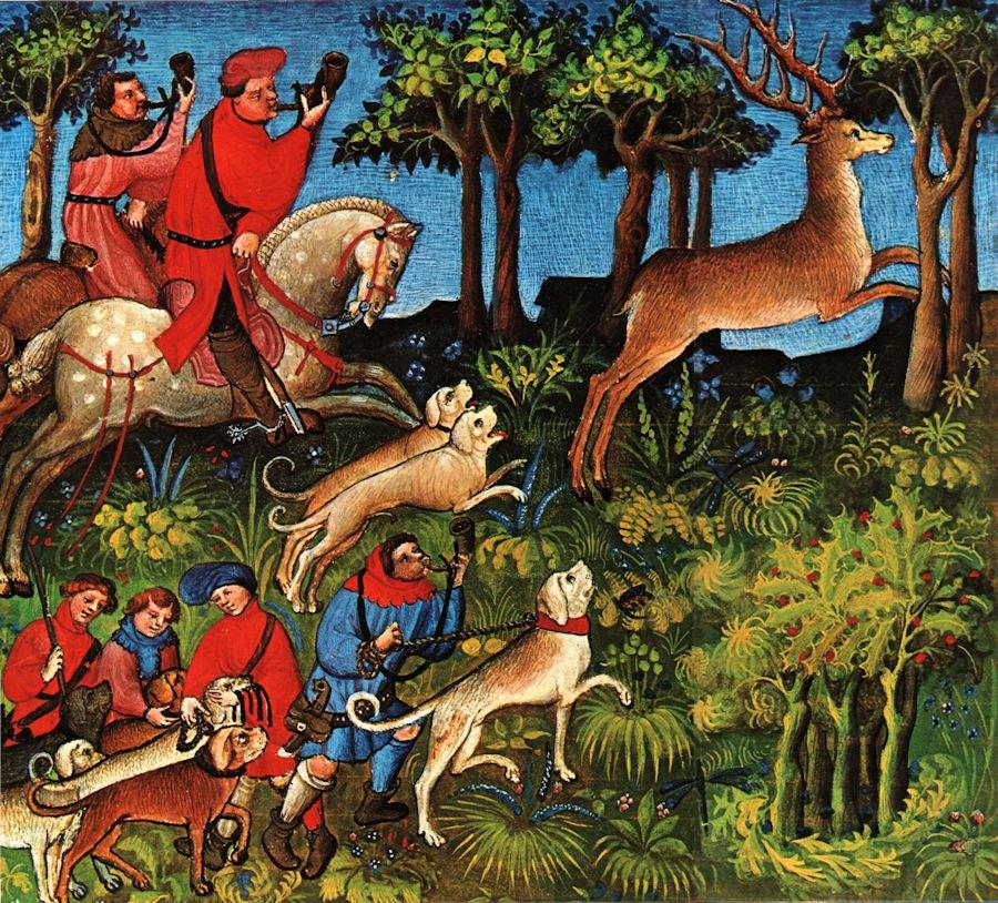 Ilustracija srednjovjekovnog lova