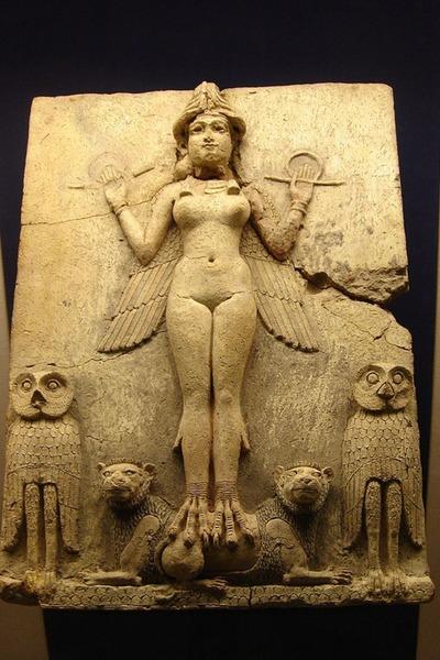 Paganska boginja Ištar (Semiramis, žena Nimroda)