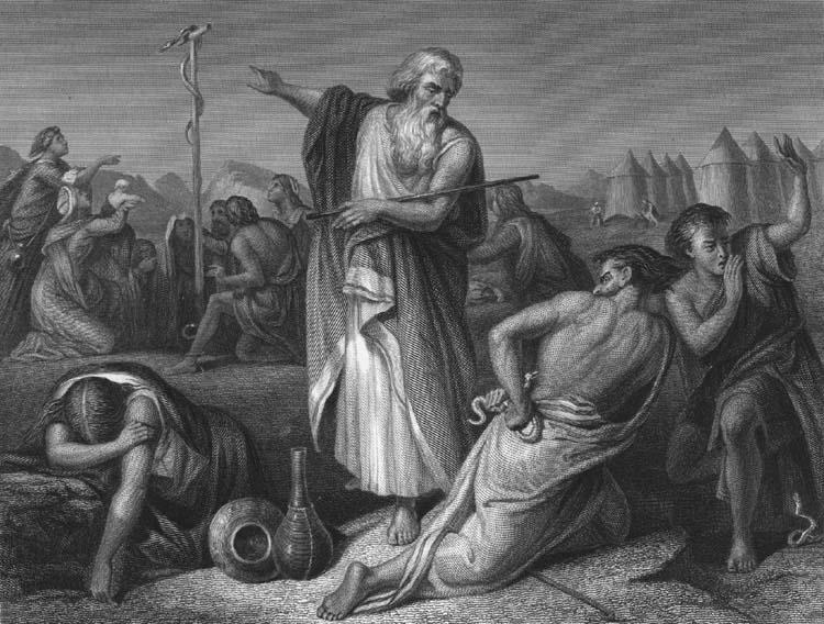 Mojsije podiže zmiju