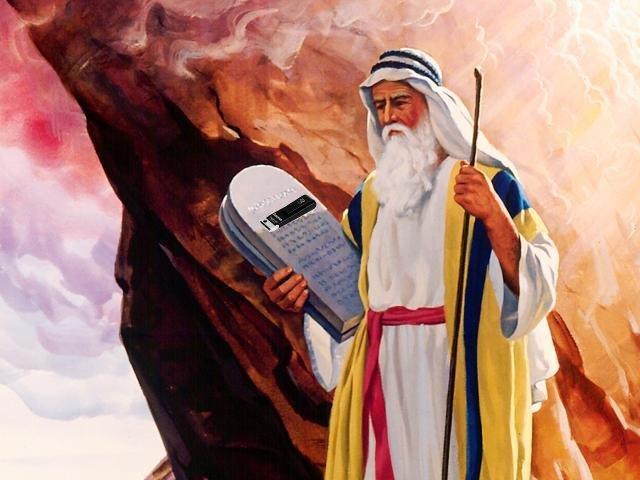 Mojsije donosi Božji Zakon