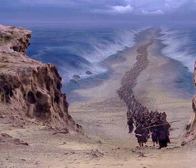 Prelazak Crvenog mora (ilustracija)